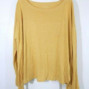 NEW $168 gold EILEEN FISHER shirt top tunic L